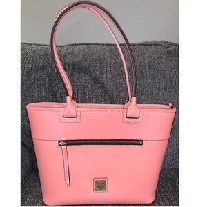 Dooney & Bourke Beacon Vachetta Leather Pink Tote